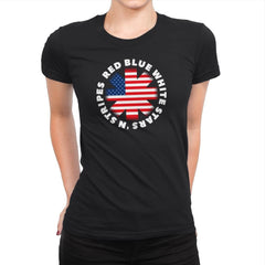 America Pepper - Star-Spangled - Womens Premium - T-Shirts - RIPT Apparel