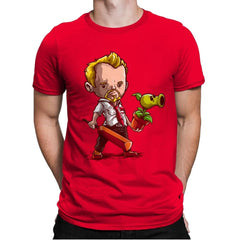 Shaun vs Zombies - Art Attack - Mens Premium - T-Shirts - RIPT Apparel