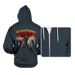 Action Friends - Hoodies - Hoodies - RIPT Apparel