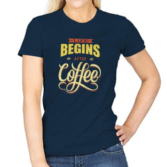 Life Begins After Coffee - Womens - T-Shirts - RIPT Apparel