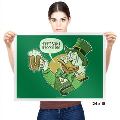 Happy Scrooge Day - St Paddys Day - Prints - Posters - RIPT Apparel