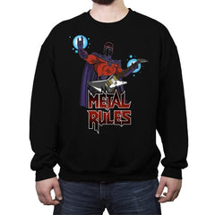 Metal Rules - Crew Neck Sweatshirt - Crew Neck Sweatshirt - RIPT Apparel