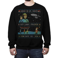 Gift Long and Prosper - Ugly Holiday - Crew Neck Sweatshirt - Crew Neck Sweatshirt - RIPT Apparel