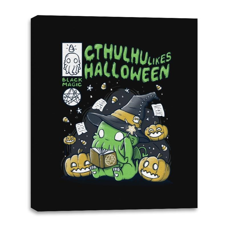 Cthulhu Likes Halloween - Anytime - Canvas Wraps - Canvas Wraps - RIPT Apparel