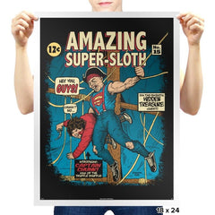 Super-Sloth - Prints - Posters - RIPT Apparel