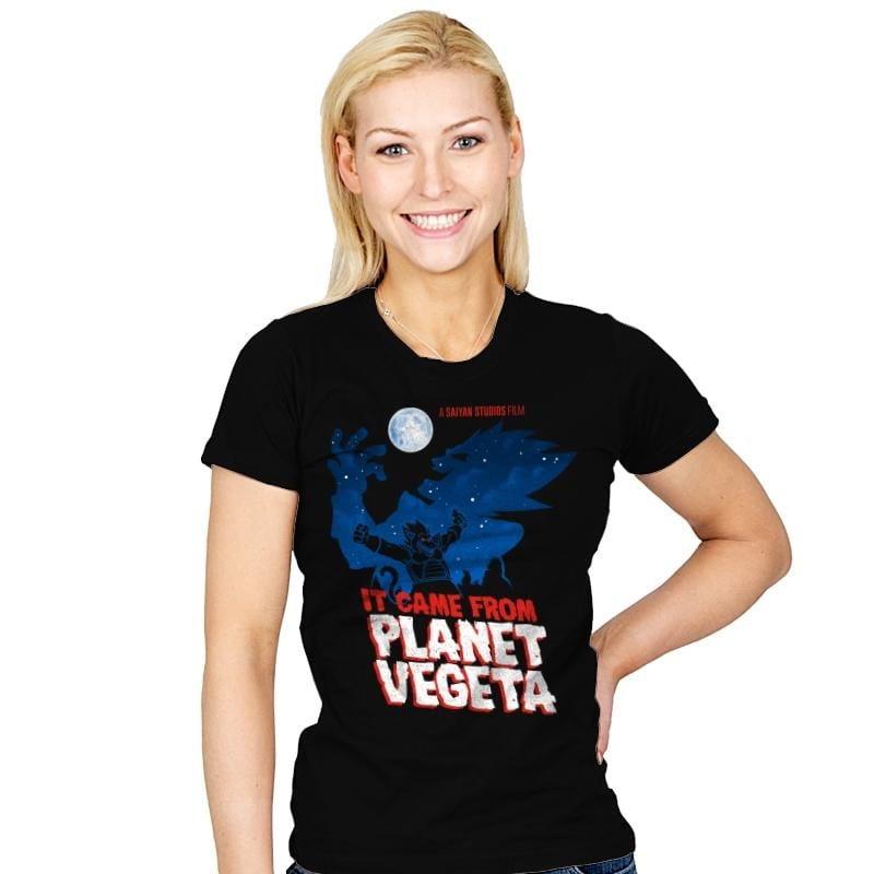 It Came From Planet Vegeta Exclusive - Womens - T-Shirts - RIPT Apparel