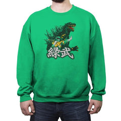 Green Warrior - Crew Neck Sweatshirt - Crew Neck Sweatshirt - RIPT Apparel
