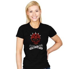 Maul and Cross Sabers - Womens - T-Shirts - RIPT Apparel