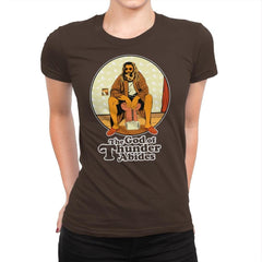 The God of Thunder Abides - Anytime - Womens Premium - T-Shirts - RIPT Apparel