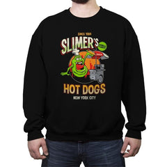 Slimer's Hot Dogs - Crew Neck Sweatshirt - Crew Neck Sweatshirt - RIPT Apparel