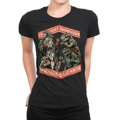 Wizards vs Lizards - Womens Premium - T-Shirts - RIPT Apparel