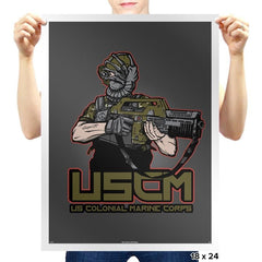 Colonial Facehugger - Prints - Posters - RIPT Apparel