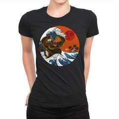 Great Monster From Kanagawa - Womens Premium - T-Shirts - RIPT Apparel
