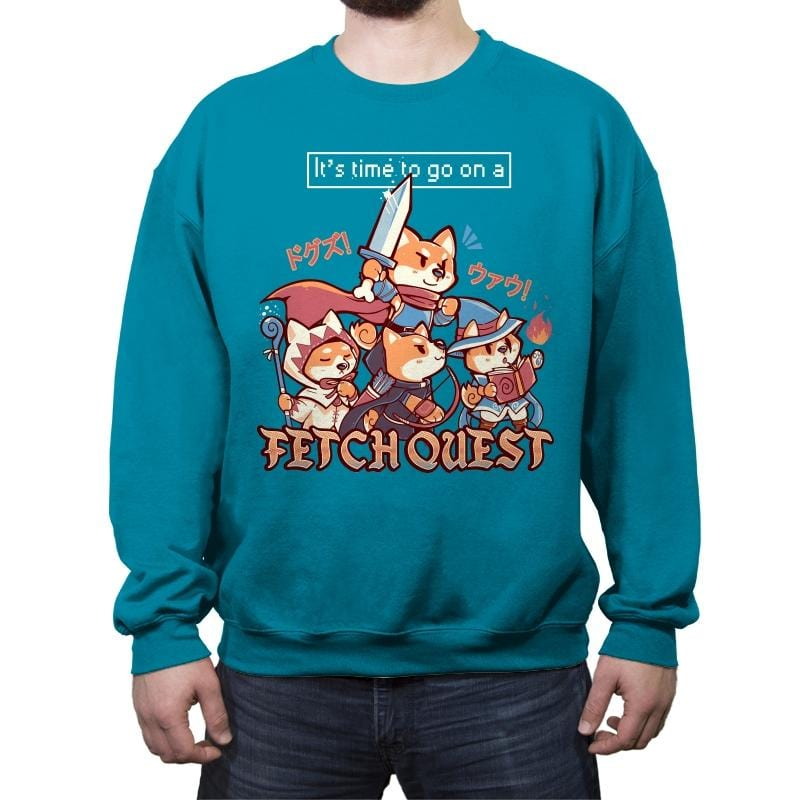 Fetch Quest - Crew Neck Sweatshirt - Crew Neck Sweatshirt - RIPT Apparel