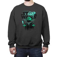 STOP WARS - Crew Neck Sweatshirt - Crew Neck Sweatshirt - RIPT Apparel