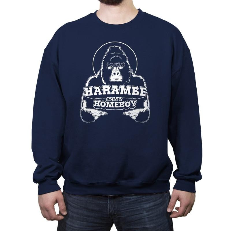 Harambe is my Homeboy - Crew Neck Sweatshirt - Crew Neck Sweatshirt - RIPT Apparel