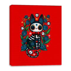 Calavera Witched Cat - Canvas Wraps - Canvas Wraps - RIPT Apparel