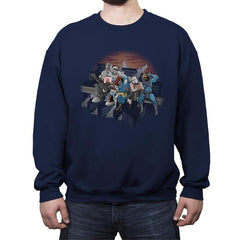 Villains Atop A Skyscraper - Crew Neck Sweatshirt - Crew Neck Sweatshirt - RIPT Apparel