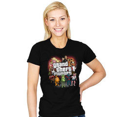 Grand Theft Muppet - Womens - T-Shirts - RIPT Apparel