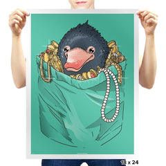 Niffler in your pocket - Prints - Posters - RIPT Apparel