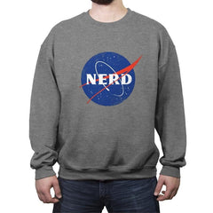 Space Nerd - Crew Neck Sweatshirt - Crew Neck Sweatshirt - RIPT Apparel