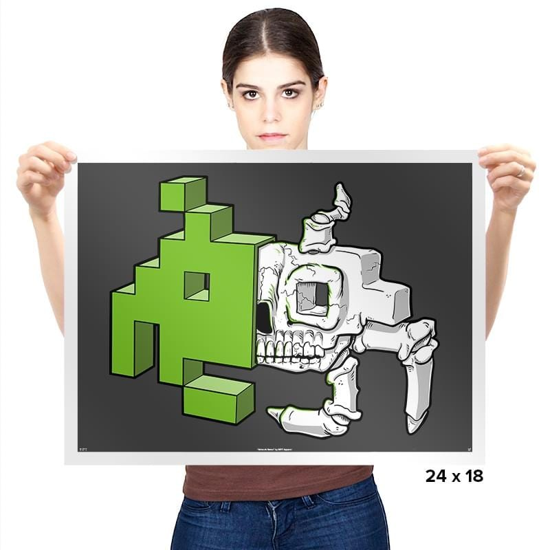 Space Invader Anatomy - Prints - Posters - RIPT Apparel