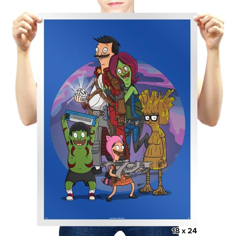 Guardians of the Burger Reprint - Prints - Posters - RIPT Apparel