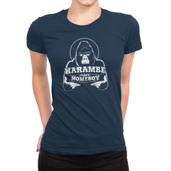 Harambe is my Homeboy Exclusive - Womens Premium - T-Shirts - RIPT Apparel