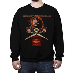 Sorry Pennywise... Chucky's Back! - Crew Neck Sweatshirt - Crew Neck Sweatshirt - RIPT Apparel