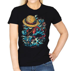 Colorful Pirate - Womens - T-Shirts - RIPT Apparel