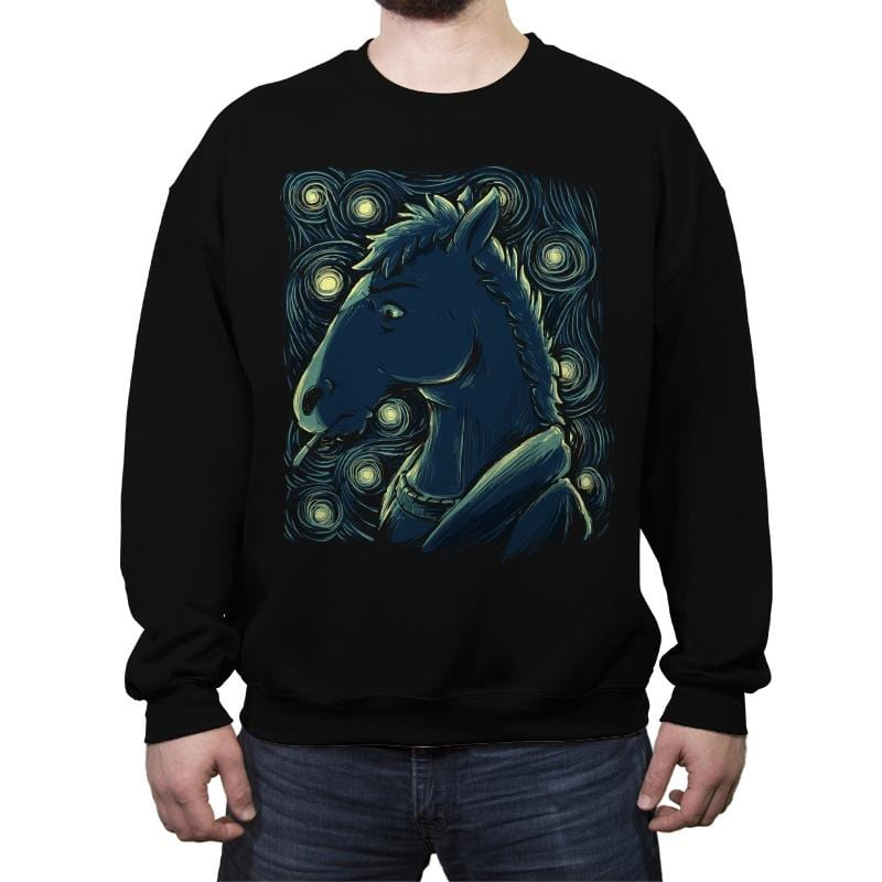Starry Horse - Crew Neck Sweatshirt - Crew Neck Sweatshirt - RIPT Apparel