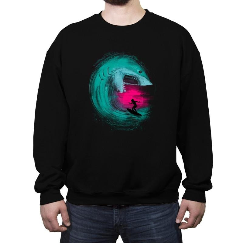 Shark Attack - Back to Nature - Crew Neck Sweatshirt - Crew Neck Sweatshirt - RIPT Apparel