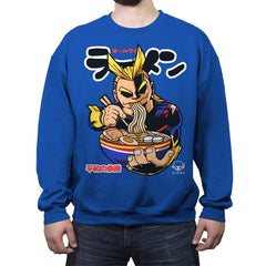 All Might Ramen - Crew Neck Sweatshirt - Crew Neck Sweatshirt - RIPT Apparel