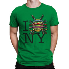 I (Turtle) NY - Art attack - Mens Premium - T-Shirts - RIPT Apparel