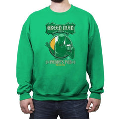 Green Man Irish Green Ale - Crew Neck Sweatshirt - Crew Neck Sweatshirt - RIPT Apparel