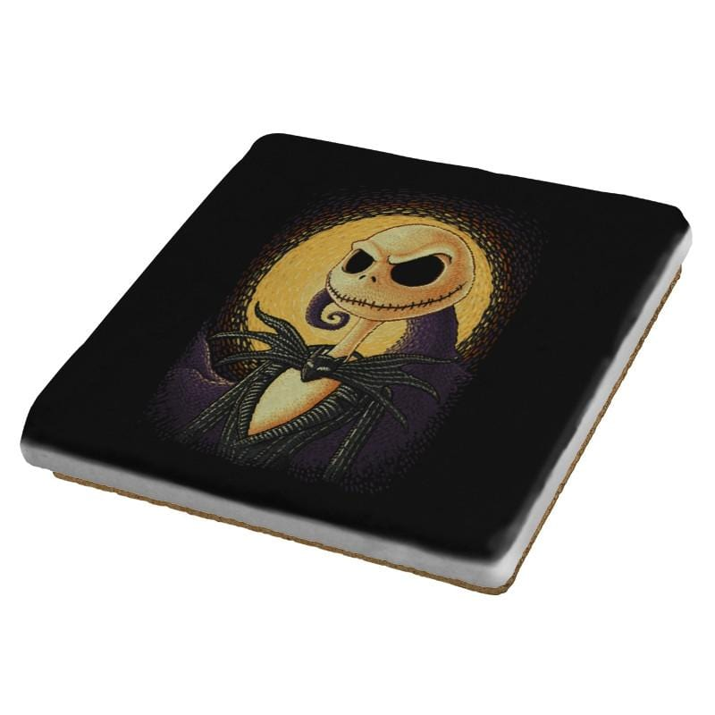 Halloween Portrait - Pop Impressionism - Coasters - Coasters - RIPT Apparel