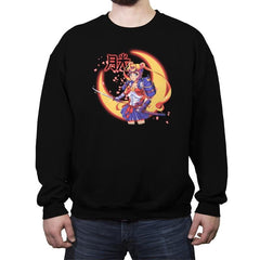Moon Light Samurai - Crew Neck Sweatshirt - Crew Neck Sweatshirt - RIPT Apparel