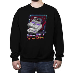 16-Bit Retro Gaming - Crew Neck Sweatshirt - Crew Neck Sweatshirt - RIPT Apparel