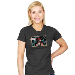 Red Ranger Standing By - Womens - T-Shirts - RIPT Apparel