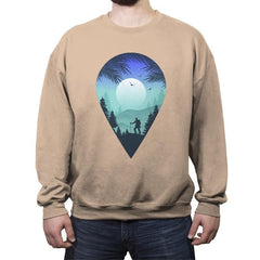 Pin Your Destination - Crew Neck Sweatshirt - Crew Neck Sweatshirt - RIPT Apparel