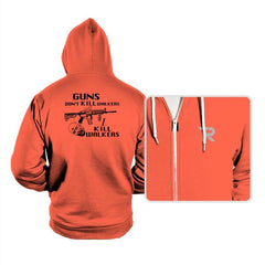 Guns Don't Kill Walkers - Hoodies - Hoodies - RIPT Apparel