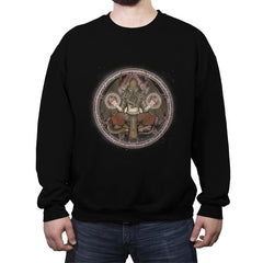 The Cthulhu Runes - Crew Neck Sweatshirt - Crew Neck Sweatshirt - RIPT Apparel