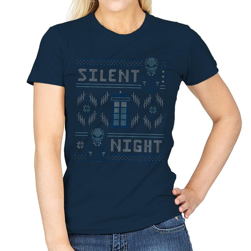 Silent Night - Ugly Holiday - Womens - T-Shirts - RIPT Apparel