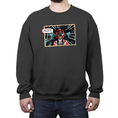 Red Ranger Standing By - Crew Neck Sweatshirt - Crew Neck Sweatshirt - RIPT Apparel