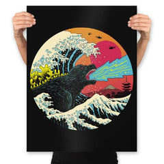 Retro Wave Kaiju - Prints - Posters - RIPT Apparel