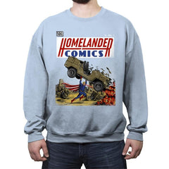 Laser Eyes Comics - Crew Neck Sweatshirt - Crew Neck Sweatshirt - RIPT Apparel