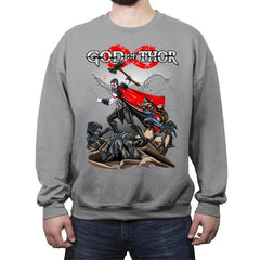 God Of Thor - Crew Neck Sweatshirt - Crew Neck Sweatshirt - RIPT Apparel