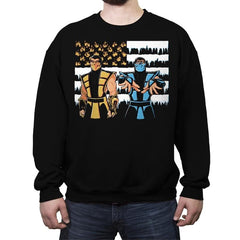 Black Dragonia - Crew Neck Sweatshirt - Crew Neck Sweatshirt - RIPT Apparel