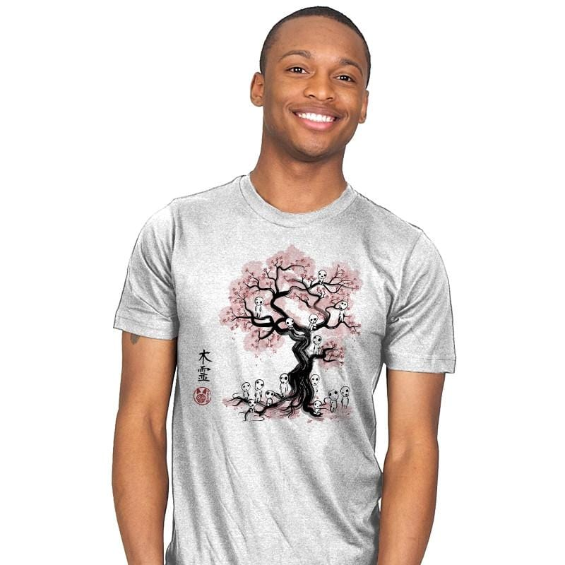 Forest Spirits Sumi-E - Sumi Ink Wars - Mens - T-Shirts - RIPT Apparel