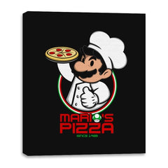 Plumber Pizza - Canvas Wraps - Canvas Wraps - RIPT Apparel